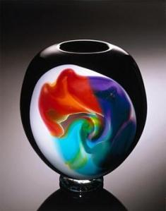 John Fitzpatrick of Ferndale created this colorful glass artwork, which will be on display at Art Birmingham. Photo/JOHN FITZPATRICK