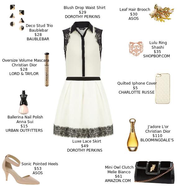 Accessories lace black dress