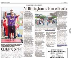 Art Birmingham was my first story in print for The Oakland Press.