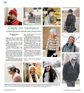 """Caps on Campus,"" February 1, 2012. The Oakland Post."