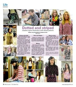 Dotted and striped photospread, March 14, 2012.