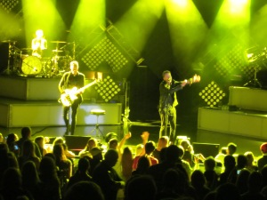 One Republic performed new and old pop hits at their Saturday night performance.